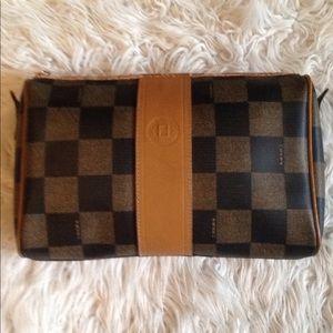 Vintage Fendi coated canvas/ leather bag